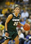 January 27 2010: Michigan St. guard Brittney Thomas (20) during the second half of an NCAA women's college basketball game at Carver-Hawkeye Arena in Iowa City, Iowa on January 27, 2010. Iowa defeated Michigan State 66-64.