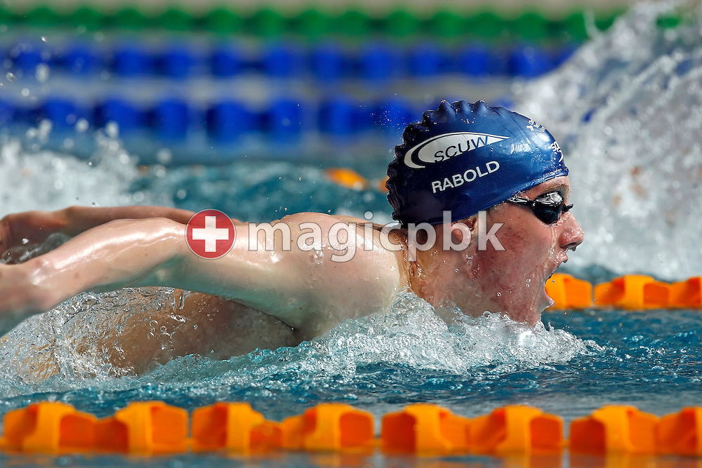 Simon RABOLD of Switzerland competes in the men's 200m butterfly B-Final in the Hallenbad Oerlikon at the Swimming Swiss Championships in Zurich, Switzerland, Friday 11 May 2007. (Photo by Patrick B. Kraemer / MAGICPBK)