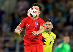 MOSCOW, RUSSIA - Tuesday, July 3, 2018: England's Harry Maguire during the FIFA World Cup Russia 2018 Round of 16 match between Colombia and England at the Spartak Stadium. (Pic by David Rawcliffe/Propaganda)