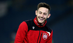 Josh Brownhill of Bristol City smiles on arrival at Elland Road for the Sky Bet Championship fixture with Leeds United - Mandatory by-line: Robbie Stephenson/JMP - 14/02/2017 - FOOTBALL - Elland Road - Leeds, England - Leeds United v Bristol City - Sky Bet Championship