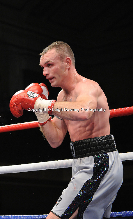 Colin Lynes (pictured) defeats Lee Purdy for the British Welterweight Title at York Hall 09.11.11. Matchroom Sport. Photo credit: © Leigh Dawney 2011.