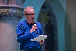The Action Porty group leading the campaign for the community right to buy of Bellfield Church and Halls in Portobello held an open meeting last night in Portobello and Joppa Parish Church. Pictured Ian Cooke from Action Porty<br /> &copy; Jon Davey/ EEm