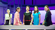 Pedro Almodovar's<br /> Women on the Verge of a nervous breakdown The Musical <br /> at the Playhouse Theatre, London, Great Britain <br /> press photocall<br /> 23rd December 2014 <br /> <br /> <br /> Seline Hizli as Marisa <br /> Haydn Gwynne as Lucia <br /> Tamsin Greig as Pepa <br /> Anna Skellern as Candela <br /> Willemijn Verkaik as Paulina <br /> <br /> <br /> Photograph by Elliott Franks <br /> Image licensed to Elliott Franks Photography Services