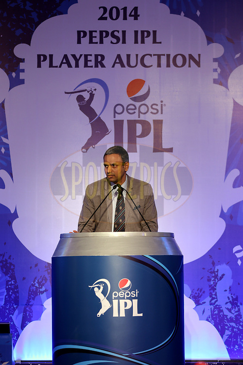 Sundar Raman IPL CEO during the Pepsi IPL Player Auction held at the ITC Gardenia in Bengaluru, India on the 13th February 2014<br /> <br /> Photo by Sandeep Shetty/BCCI/SPORTZPICS