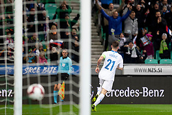 Verbic Benjamin of Slovenia celebrates goal during football match between National Teams of Slovenia and Norway in Final Tournament of UEFA Nations League 2019, on November 16, 2018 in SRC Stozice, Ljubljana, Slovenia. Photo by Urban Urbanc / Sportida