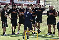 Fotball<br /> Italia<br /> Foto: Inside/Digitalsport<br /> NORWAY ONLY<br /> <br /> 25.07.2008<br /> <br /> coach Luciano Spalletti talks to the players before training: Simone Perrotta, Mirko Vucinic, Alberto Aquilani, John Arne Riise, Pipolo, Andreolli, Marco Cassetti, Max Tonetto e Simone Loria.<br /> <br /> Trening Roma
