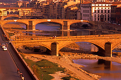 Bridges crossing Arno River Background Bridge Ponte Vecchio, Florence, Italy