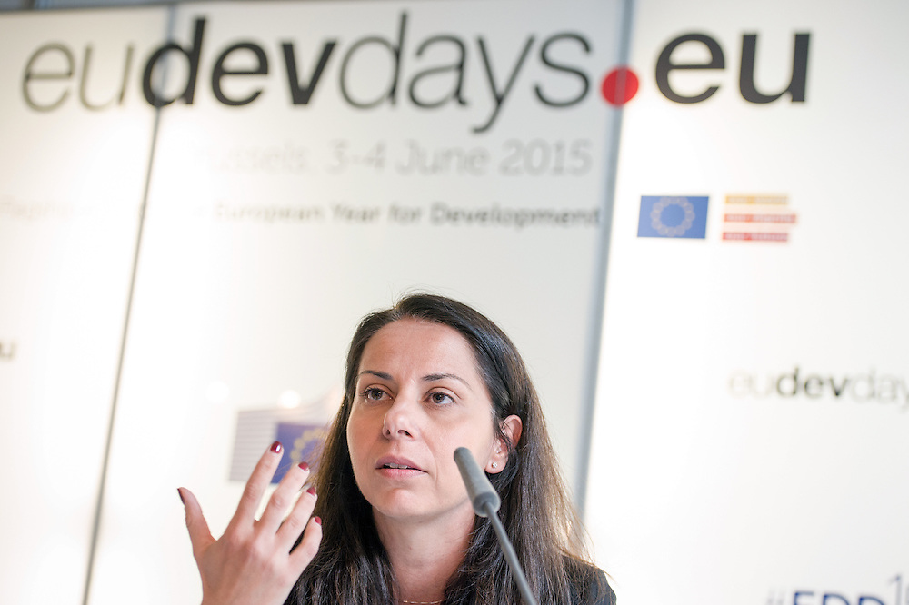 04 June 2015 - Belgium - Brussels - European Development Days - EDD - Growth - From cotton production to ethical clothing and fashion - Paola Geremicca<br /> Fundraising and Communications Director, Better Cotton Initiative &copy; European Union