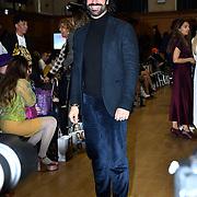 Christian Vit attends The British luxury Womenswear designer, Chanel Joan Elkayam, showcases her Autumn - Winter 2020 show ahead of London Fashion Week on 13 February 2020 at Cecil Sharp House, London, UK.