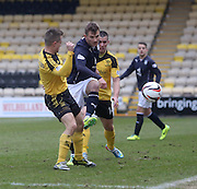 Dundee's Willie Dyer and Livingston's Keaghan Jacobs -Livingston v Dundee - SPFL Championship at Almondvale <br />  - &copy; David Young - www.davidyoungphoto.co.uk - email: davidyoungphoto@gmail.com
