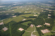 Fracking pads in Elm Grove Louisiana, near  Shreveport in Haynesville Shale region.