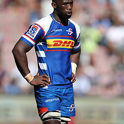 Siya Kolisi (captain) of the DHL Stormers during the Super Rugby match between the DHL Stormers and the Jaguares at the DHL Newlands Stadium Cape Town South Africa. 17,February 2018 (Photo by Steve Haag/UAR)