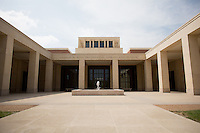 An exterior of the George W. Bush Library and Museum on the Southern Methodist Campus in Dallas, Texas