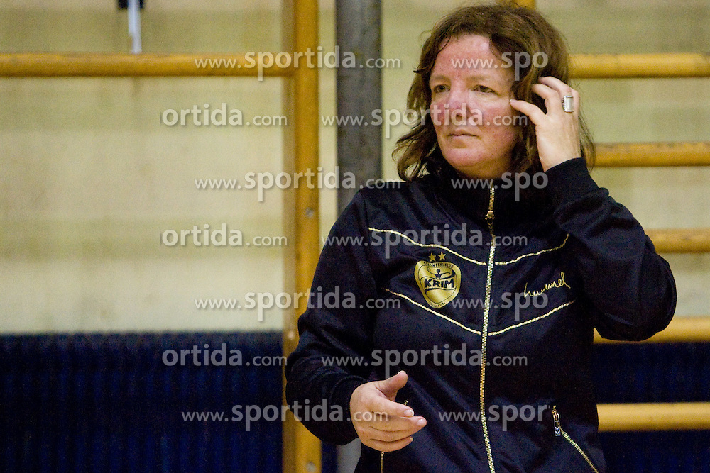 Head coach of Krim Marta Bon at last 10th Round handball match of Slovenian Women National Championships between RK Krim Mercator and RK Olimpija, on May 15, 2010, in Galjevica, Ljubljana, Slovenia. Olimpija defeated Krim 39-36, but Krim became Slovenian National Champion. (Photo by Vid Ponikvar / Sportida)