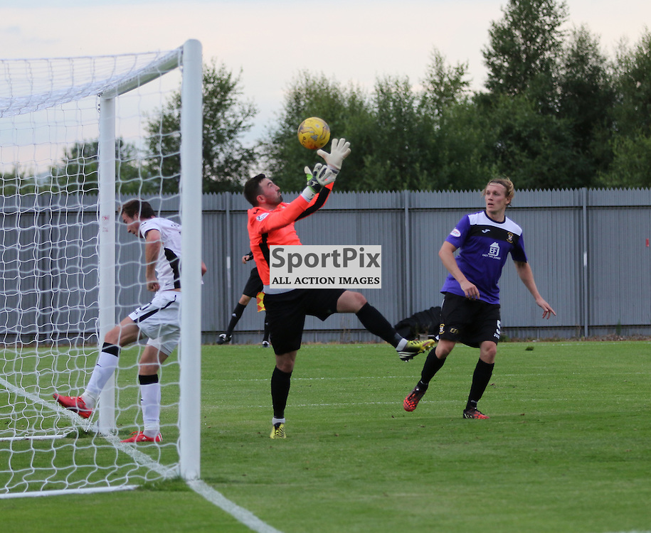 Robert Thomson is beating to the ball by Ryan Goodfellow  during the Dumbarton v East Fife Scottish League Cup group stage 19 July 2016<br /> <br /> (c) Andy Scott | SportPix.org.uk