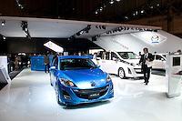 Mazda stand at the Tokyo Motorshow. October 2009.