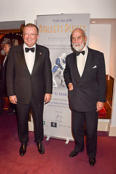 Left to right, Russian ambassador to the United Kingdom Alexander Vladimirovich Yakovenko and HRH Prince Michael of Kent at the Russian Ballet Icons Gala, The London Coliseum, St.Martin's Lane, London,  England. 12 March 2017.