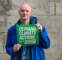 Hunter Square, Edinburgh, Scotland, United Kingdom, 28 November 2019. General Election: The Scottish Greens demand action about climate change as part of their general election campaign. Pictured:  Dr Steve Burgess, Scottish Green councillor in Edinburgh & the Greens' spokesperson on Climate Change.<br /> Sally Anderson | EdinburghElitemedia.co.uk