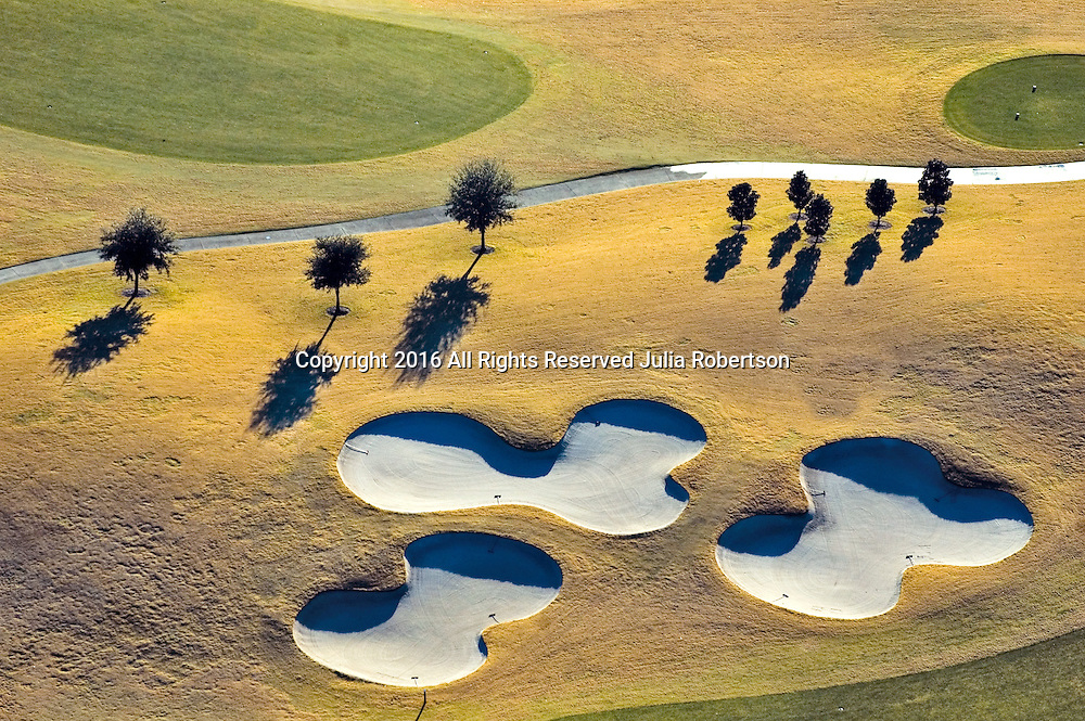 Aerial view of Nancy Lopez Golf Course at the Villages in  Central Florida Aerial views of artistic patterns in the earth.