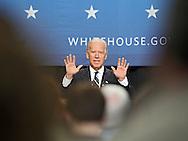 Vice President Joe Biden speaks at Iowa State University in Ames, Iowa on Thursday, March 1, 2012.