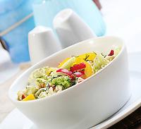 Close up salad in dish