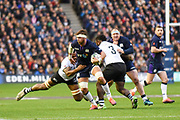 Sam Skinner on the ball during the 2018 Autumn Test match between Scotland and Fiji at Murrayfield, Edinburgh, Scotland on 10 November 2018.