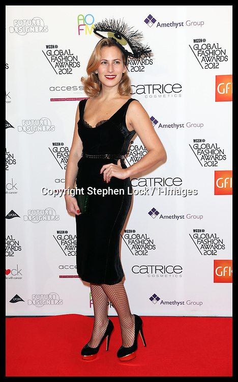 Charlotte Dellal arriving at the WGSN Global Fashion Awards in London, Monday 5th November 2012. Photo by: Stephen Lock / i-Images
