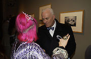 "Zandra Rhodes and Manolo Blahnik. The private views for Anna Piaggi's exhibition ""Fashion-ology"" and also 'Popaganda: the life and style of JC de Castelbajacat' the Victoria & Albert Museum on January 31  2006. © Copyright Photograph by Dafydd Jones 66 Stockwell Park Rd. London SW9 0DA Tel 020 7733 0108 www.dafjones.com"
