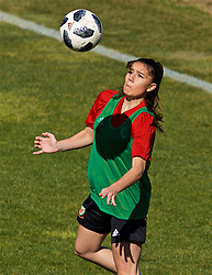 ALHAURÍN EL GRANDE, SPAIN - Monday, March 4, 2019: Wales' Ffion Morgan during a training session at the at Alhaurin Golf Resort in Spain. (Pic by David Rawcliffe/Propaganda)
