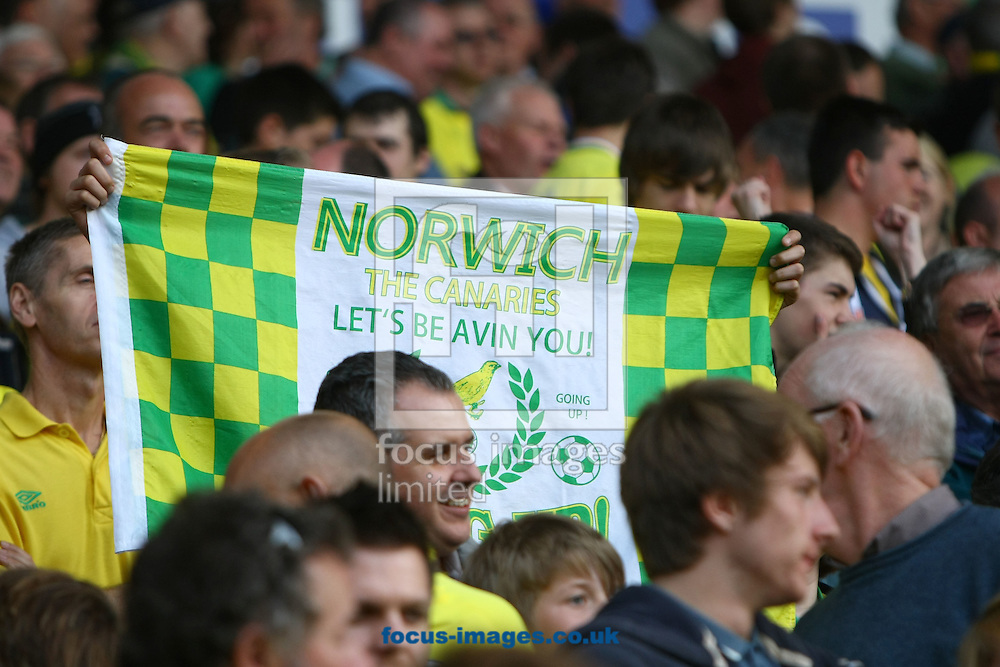 Picture by Paul Chesterton/Focus Images Ltd.  07904 640267.13/05/12.The home fans during the Barclays Premier League match at Carrow Road Stadium, Norwich.