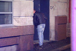 MANCHESTER 19.09.2017 A man is sick at the back of a  night club. <br /> Freshers week continues in Manchester which has seen 1000s of students out drinking every night since Sunday.