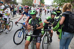Malgorzata Jasinska (POL) of Cylance Pro Cycling cools down after Stage 1 of the Ladies Tour of Norway - a 101.5 km road race, between Halden and Mysen on August 18, 2017, in Ostfold, Norway. (Photo by Balint Hamvas/Velofocus.com)
