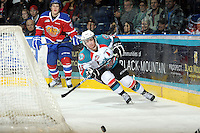 KELOWNA, CANADA - FEBRUARY 15:  Shane McColgan #18 of the Kelowna Rockets skates for the puck against the Edmonton OIl Kings at the Kelowna Rockets on February 15, 2012 at Prospera Place in Kelowna, British Columbia, Canada (Photo by Marissa Baecker/Getty Images) *** Local Caption *** Shane McColgan;