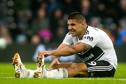 Aleksandar Mitrovic of Fulham pulls up with cramp - Mandatory by-line: Robbie Stephenson/JMP - 26/08/2018 - FOOTBALL - Craven Cottage - Fulham, England - Fulham v Burnley - Premier League