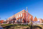 Exterior image of Anne Beers Elementary School in Washington DC by Jeffrey Sauers of Commercial Photographics
