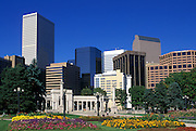 Image of the Civic Center Park and downtown buildings in Denver, Colorado, American Southwest
