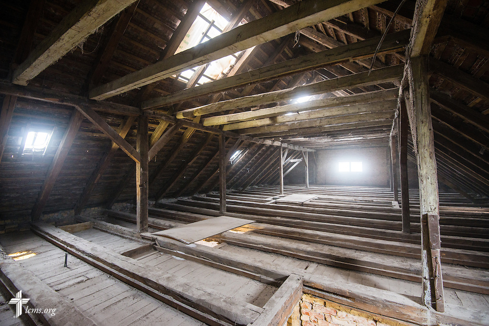 An interior photograph of the attic at the Old Latin School on Wednesday, Jan. 29, 2014, in Wittenberg, Germany. LCMS Communications/Erik M. Lunsford
