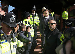 TV presenter Anthony McPartlin walks down the steps as he leaves the Court House in Wimbledon, London, after being fined £86,000 at Wimbledon Magistrates' Court after admitting driving while more than twice the legal alcohol limit.