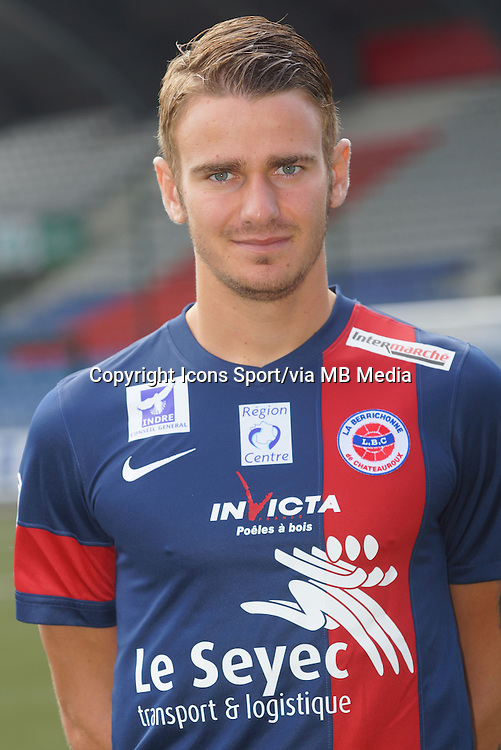 Maxime BOURGEOIS - 04.08.2013 - Photo Offficielle Chateauroux - <br /> Photo : Icon Sport