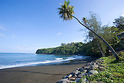 Matavai Bay, black sand beach, Papeete, Tahiti, French Polynesia<br />
