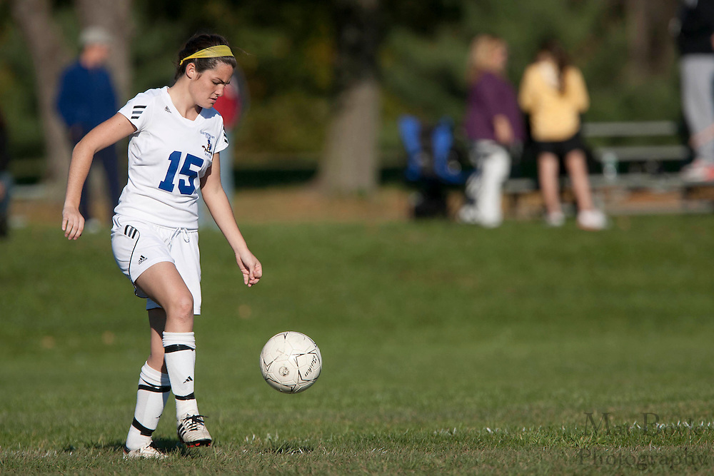 Gloucester County College Sophomore Midfielder / Forward Roberta Burns (15)..Gloucester County College defeats Middlesex County College 1-0 in a NJCAA Region XIX Semi-Final at Gloucester County College in Sewell, NJ on Tuesday, October 25, 2011.