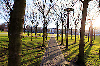 A park connecting the Rijksmuseum with the Van Gogh Museum in central Amsterdam, The Netherlands.