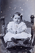toddler in surface damaged studio memory image