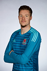 NANNING, CHINA - Saturday, March 24, 2018: Wales' goalkeeper Wayne Hennessey during a squad photo shoot at the Wanda Realm Hotel on day five of the 2018 Gree China Cup International Football Championship. (Pic by David Rawcliffe/Propaganda)