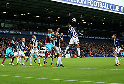 Grzegorz Krychowiak of West Bromwich Albion heads away a West Ham United corner - Mandatory by-line: Paul Roberts/JMP - 16/09/2017 - FOOTBALL - The Hawthorns - West Bromwich, England - West Bromwich Albion v West Ham United - Premier League
