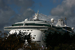 UK ENGLAND SOUTHAMPTON 17SEP11 - Cruise liner Independence of the Seas creates a backdrop for the Southampton Boatshow...The Southampton Boat Show is the biggest water based boat show in Europe. It has been held every September since 1969 in Mayflower Park, Southampton, England.....jre/Photo by Jiri Rezac....© Jiri Rezac 2011