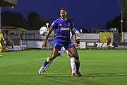 AFC Wimbledon striker Tyrone Barnett (23) during the EFL Trophy match between AFC Wimbledon and U23 Swansea City at the Cherry Red Records Stadium, Kingston, England on 30 August 2016. Photo by Stuart Butcher.