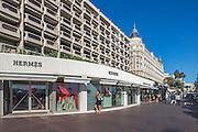Boutique de luxe Hermes sur La Croisette // Hermes luxury shop on La croisette in Cannes.