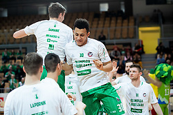 Luka Samanic of Petrol Olimpija and Issuf Sanon of Petrol Olimpija during basketball match between KK Sixt Primorska and KK Petrol Olimpija in semifinal of Spar Cup 2018/19, on February 16, 2019 in Arena Bonifika, Koper / Capodistria, Slovenia. Photo by Vid Ponikvar / Sportida