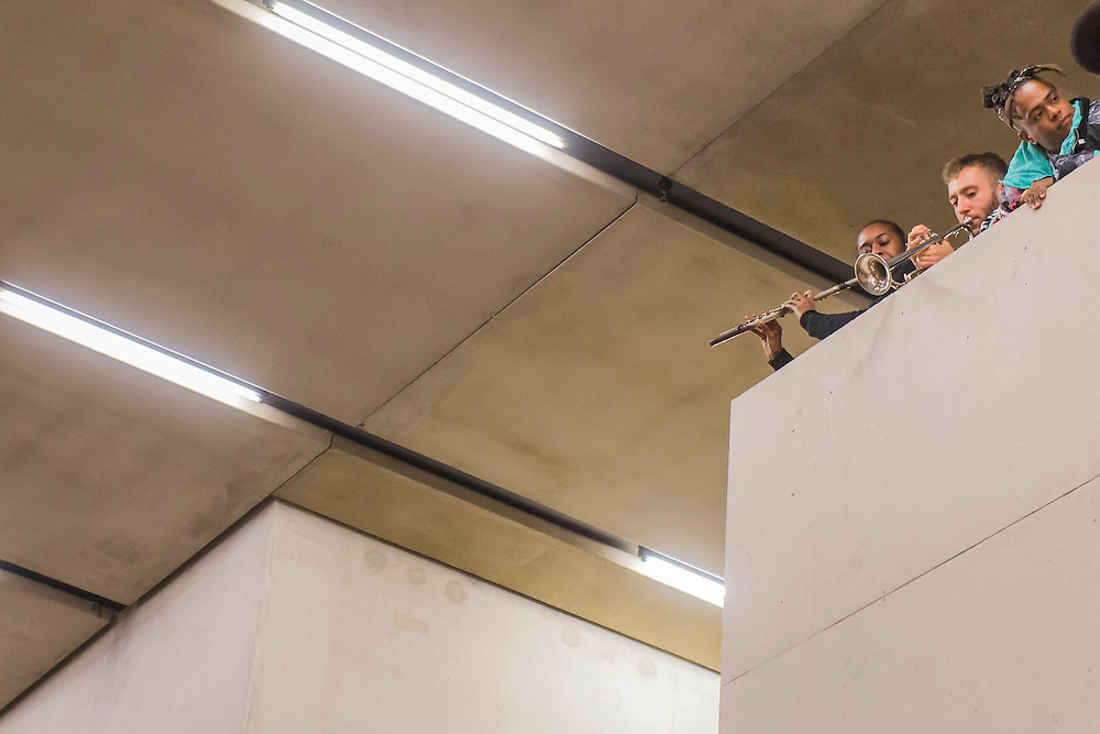 Aluminum - New York-based choreographer Rashida Bumbray collaborates with Simone Leigh on an immersive dance performance. The performance begins in the Tanks at and proceeds through the Switch House, pausing on Level 4 around and concluding in Tate Exchange.